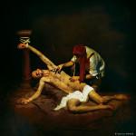 Sebastián atendido por un esclavo © Aurelio Monge